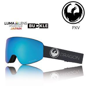 19 DRAGON Goggle PXV ECHO SILVER /Lumalanes BlueSteel アジアンフィット ドラゴン ピーエックスブイ ゴーグル ボードゴーグル H04 18-19|extreme-ex