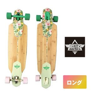 DUSTERS スケボー 9.2インチ 【 Dusters channel hawaiian 】 ロングスケート コンプリート スケートボード SKATEBOARD ソフトウィール|extreme-ex
