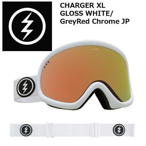 18 ELECTRIC Goggle CHARGER XL GLOSS WHITE/GreyRed Chrome JP アジアンフィット エレクトリック チャージャーエクストラ ボードゴーグル 2017 2017-18|extreme-ex