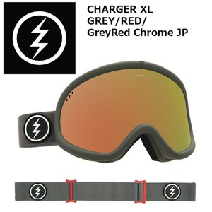 18 ELECTRIC Goggle CHARGER XL GREY/RED/GreyRed Chrome JP アジアンフィット エレクトリック チャージャーエクストラ ボードゴーグル 2017 2017-18|extreme-ex