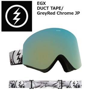 18 ELECTRIC Goggle EGX DUCT TAPE/GreyRed Chrome JP アジアンフィット エレクトリック イージーエックス ボードゴーグル 2017 2017-18|extreme-ex