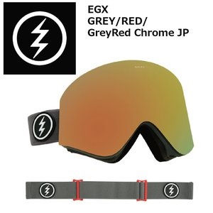 18 ELECTRIC Goggle EGX GREY/RED/GreyRed Chrome JP アジアンフィット エレクトリック イージーエックス ボードゴーグル 2017 2017-18|extreme-ex