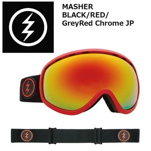 18 ELECTRIC Goggle MASHER BLACK/RED/GreyRed Chrome JP アジアンフィット エレクトリック マシェリ ボードゴーグル 2017 2017-18|extreme-ex