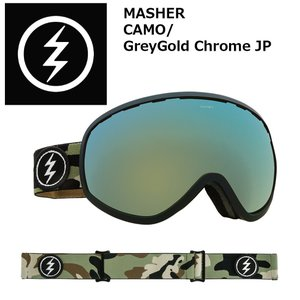 18 ELECTRIC Goggle MASHER CAMO/GreyGold Chrome JP アジアンフィット エレクトリック マシェリ ボードゴーグル 2017 2017-18|extreme-ex