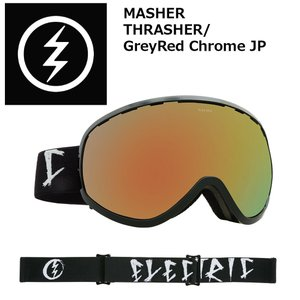 18 ELECTRIC Goggle MASHER THRASHER/GreyRed Chrome JP アジアンフィット エレクトリック マシェリ ボードゴーグル 2017 2017-18|extreme-ex