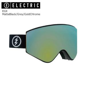 19 ELECTRIC Goggle EGX MatteBlack/Grey/GoldCHrome JP アジアンフィット エレクトリック イージーエックス ボードゴーグル 2018 2018-19|extreme-ex