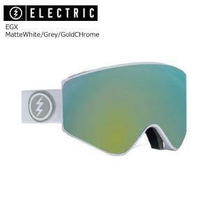 19 ELECTRIC Goggle EGX MatteWhite/Grey/GoldCHrome JP アジアンフィット エレクトリック イージーエックス ボードゴーグル 2018 2018-19|extreme-ex