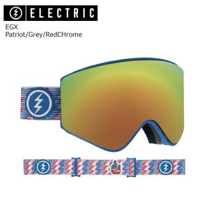 19 ELECTRIC Goggle EGX Patriot/Grey/RedCHrome JP アジアンフィット エレクトリック イージーエックス ボードゴーグル 2018 2018-19|extreme-ex