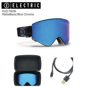 19 ELECTRIC Goggle ELECTRON MatteBlack/Blue Chrome アジアンフィット エレクトリック エレクトロン ボードゴーグル 2018 2018-19|extreme-ex