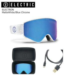 19 ELECTRIC Goggle ELECTRON MatteWhite/Blue Chrome アジアンフィット エレクトリック エレクトロン ボードゴーグル 2018 2018-19|extreme-ex