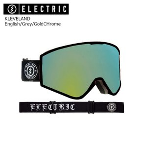 19 ELECTRIC Goggle KLEVELAND English/Grey/GoldCHrome JP アジアンフィット エレクトリック クリーブランド ボードゴーグル 2018 2018-19|extreme-ex