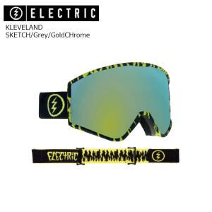19 ELECTRIC Goggle KLEVELAND SKETCH/Grey/GoldCHrome JP アジアンフィット エレクトリック クリーブランド ボードゴーグル 2018 2018-19|extreme-ex