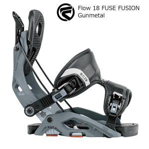 18 FLOW FUSE FUSION B/D Gunmetal フロー フューズ フュージョン スノーボード バインディング 17-18 2017-18|extreme-ex