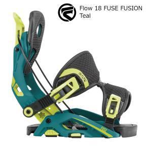 18 FLOW FUSE FUSION B/D Teal フロー フューズ フュージョン スノーボード バインディング 17-18 2017-18|extreme-ex