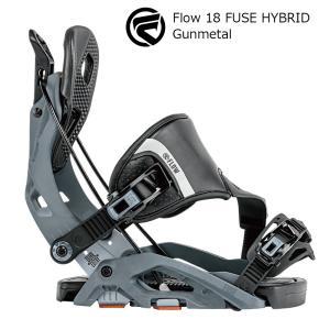 18 FLOW FUSE HYBRID B/D Gunmetal フロー フューズ ハイブリット スノーボード バインディング 17-18 2017-18|extreme-ex