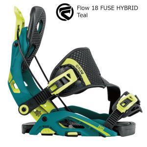 18 FLOW FUSE HYBRID B/D Teal フロー フューズ ハイブリット スノーボード バインディング 17-18 2017-18|extreme-ex