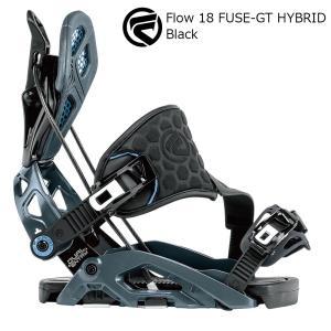 18 FLOW FUSE-GT HYBRID B/D Black フローフューズジーティー ハイブリット  スノーボード バインディング 17-18 2017-18|extreme-ex