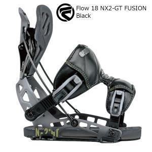 18 FLOW NX2-GT FUSION B/D Black フロー エヌエックストゥージーティー フュージョン スノーボード バインディング 17-18 2017-18|extreme-ex