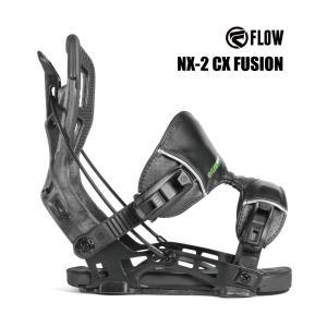 予約商品 3大特典付 19 FLOW NX2-CX FUSION B/D GRAPHITE フロー エヌエックストゥーシーエックス フュージョン スノーボード バインディング 18-19 2018|extreme-ex