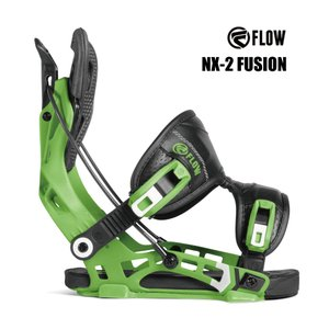 予約商品 3大特典付 19 FLOW NX2 FUSION B/D GREEN フロー エヌエックストゥー フュージョン スノーボード バインディング 18-19 2018|extreme-ex
