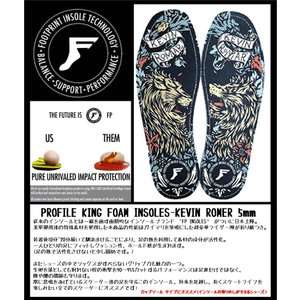 FP INSOLES-KING FOAM INSOLES- KEVIN ROMER 5mm(フラットソール) FOOT PRINT INSOLES フットプリントインソール|extreme-ex