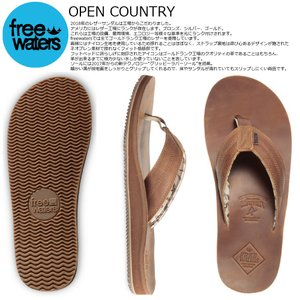 Freewaters 18 OPEN COUNTRY Brown フリーウォータース ビーチサンダル|extreme-ex