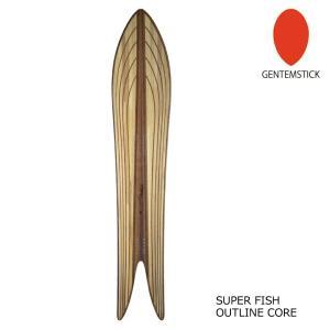 保護フィルム付き 21-22 GENTEMSTICK ゲンテンスティック SUPER FISH OUTLINE CORE 176 スーパーフィッシュ アウトラインコア 176cm アクセルキャンバー|extreme-ex