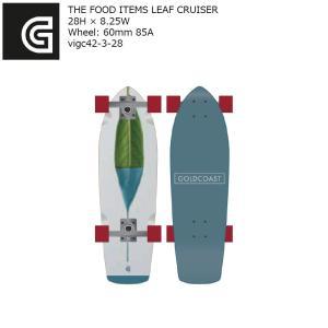 GOLDCOAST THE FOOD ITEMS LEAF CRUISER 28H×8.25W vigc42-3-28 街乗り クルーザー コンプリート ゴールドコースト ソフトウィール|extreme-ex