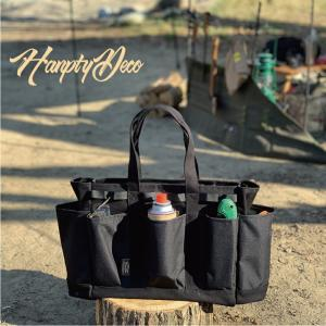 HANPTY DECO ハンプティデコ CAMP VEGE BAG Black キャンプべジ バック 大型ポケット8個 ギアコンテナ 16L プラスポケット OutDoor extreme-ex