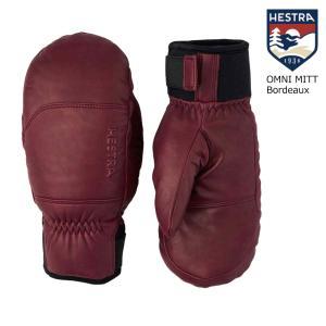 予約商品 21-22 HESTRA ヘストラ 30431 OMNI MITT Red/Cork オムニミット 6 7 8 9 レッド/コルク   グローブ 正規品 スノボー スキー|extreme-ex