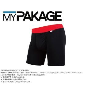 MyPakage WEEKDAY SOLID BLACK/RED 股下6inch丈 マイパッケージ ボクサーパンツ キーホール コンフォート MPWD ポスト投函(メール便)|extreme-ex