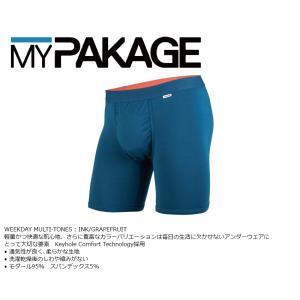 MyPakage WEEKDAY SOLID INK/GRAPEFRUIT 股下6inch丈 マイパッケージ ボクサーパンツ キーホール コンフォート MPWD ポスト投函(メール便)|extreme-ex
