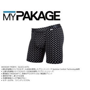 MyPakage WEEKDAY PRINT BLACK DOT 股下6inch丈 マイパッケージ ボクサーパンツ キーホール コンフォート MPWDP ポスト投函(メール便)|extreme-ex
