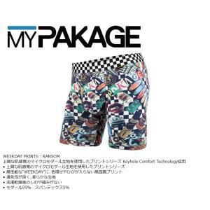 MyPakage WEEKDAY PRINT RANSOM 股下6inch丈 マイパッケージ ボクサーパンツ キーホール コンフォート MPWDP ポスト投函(メール便)|extreme-ex