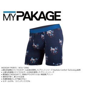 MyPakage WEEKDAY PRINT WOLF GANG 股下6inch丈 マイパッケージ ボクサーパンツ キーホール コンフォート MPWDP extreme-ex