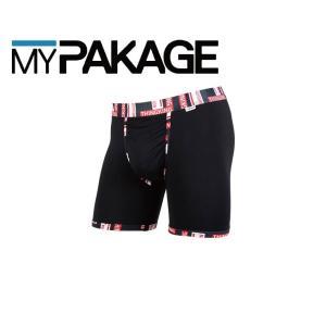 MyPakage WEEKDAY PRINTED BANDS BLACK FUPERM  股下6inch丈マイパッケージ ボクサーパンツ キーホール コンフォート MPWDPB extreme-ex