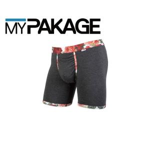 MyPakage WEEKDAY PRINTED BANDS DARK HEATHER ROSE 股下6inch丈 マイパッケージ ボクサーパンツ キーホール コンフォート MPWDPB extreme-ex