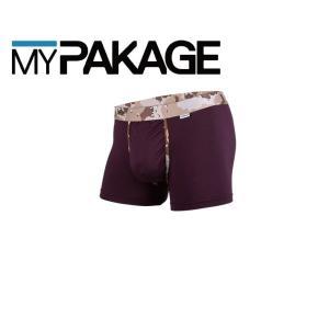 MyPakage WEEKDAY TRUNKS PRINTED BANDS PLUM/DESERT CAMO 股下3inch丈 マイパッケージ ボクサーパンツ MPWTPB ポスト投函(メール便)|extreme-ex