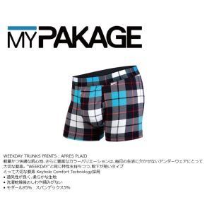 MyPakage WEEKDAY TRUNKS PRINT APRES PLAID 股下3inch丈 マイパッケージ ボクサーパンツ キーホール コンフォート MPWTP extreme-ex