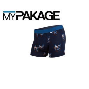 MyPakage WEEKDAY TRUNKS PRINT WOLF GANG 股下3inch丈 マイパッケージ ボクサーパンツ キーホール MPWTP ポスト投函(メール便)|extreme-ex