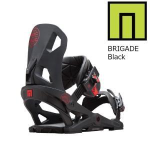 18 NOW BRIGADE  B/D Black ナウスノーボーディング ブリゲート スノーボード バインディング 17-182017 2017-18|extreme-ex
