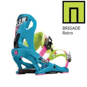 18 NOW BRIGADE  B/D Retro ナウスノーボーディング ブリゲート スノーボード バインディング 17-182017 2017-18|extreme-ex