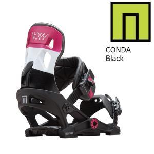 18 NOW W CONDA  B/D Black ナウスノーボーディング コンダ レディース スノーボード バインディング 17-182017 2017-18|extreme-ex