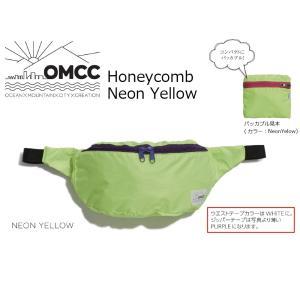 OMCC HONEY COMB Neon Yellow オーエムシーシー ウエストポーチ 肩掛け extreme-ex