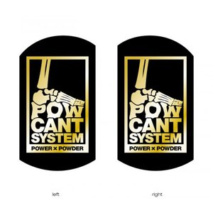 POWCANT System BLACK/GOLD ビス付パウカント 動きが変わる魔法のカント ポスト投函(メール便)|extreme-ex
