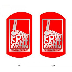POWCANT System RED/SILVER ビス付パウカント 動きが変わる魔法のカント ポスト投函(メール便)|extreme-ex