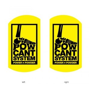 POWCANT System YELLOW/BLACK ビス付パウカント 動きが変わる魔法のカント ポスト投函(メール便)|extreme-ex