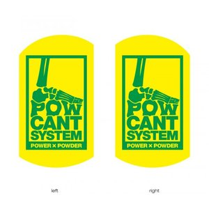 POWCANT System YELLOW/GREEN ビス付パウカント 動きが変わる魔法のカント ポスト投函(メール便)|extreme-ex
