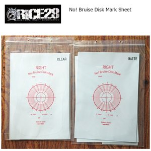 RICE28 No! Bruise Disk Mark Sheet (corner protector付属) ボードプロテクト スノーボード ポスト投函(メール便)|extreme-ex