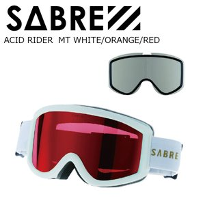 18 SABRE ACID RIDER MT WHITE/ORANGE/RED セイバー アシッドライダー ボードゴーグル 17-18|extreme-ex